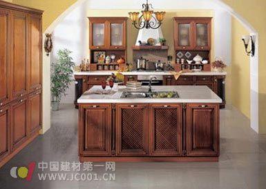 开放式厨房之岛式橱柜效果图