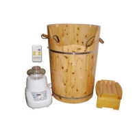 豪华香柏木桶纳米离子蒸汽熏蒸桶