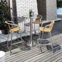 藤制户外家具铝合金编藤吧台吧椅