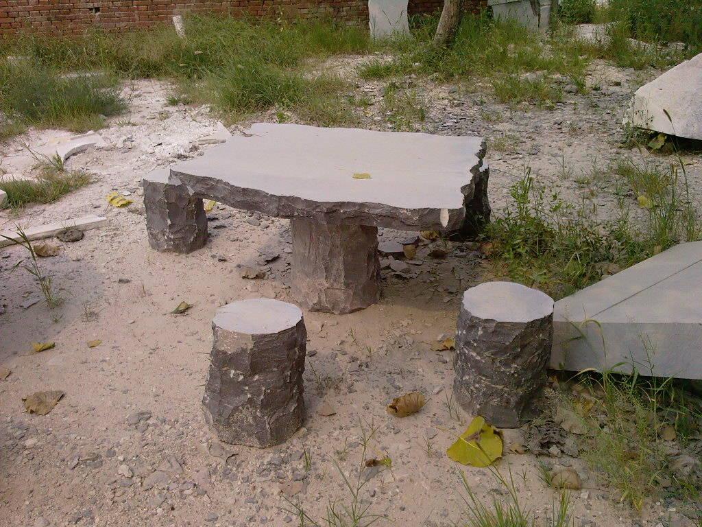 ps中石桌平面素材图片