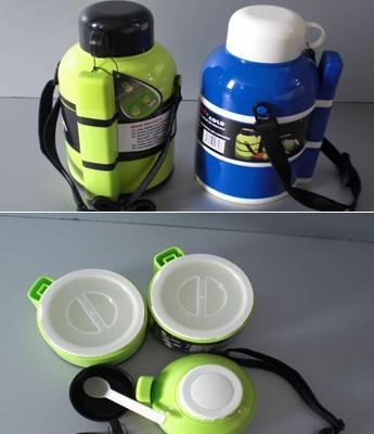 【工厂直销】多功能塑料保温饭盒(三层)