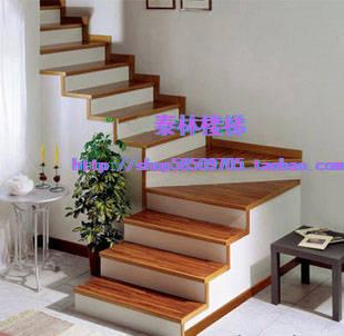 实木踏板,旋转楼梯,铁木艺楼梯