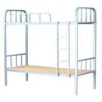 员工寝室高低床-上下铺两层床-单人双层铁架床