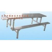 工厂饭堂用不锈钢餐桌_8人条形不锈钢餐台