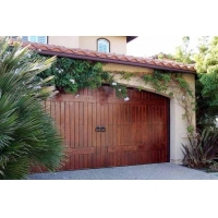 实木复合铝木电动遥控车库门
