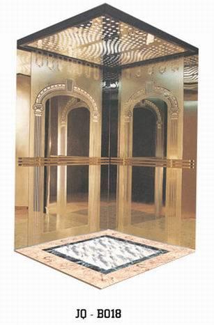玫瑰金不锈钢蚀刻花纹电梯门板