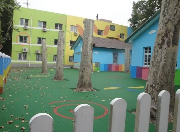 西京幼儿园室外塑胶现浇场地竣工
