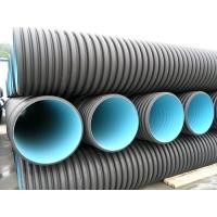 重庆厂家批发双壁打孔波纹管穿线排水管