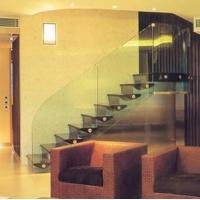 无梁钢化玻璃楼梯