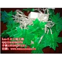 led枫叶灯串 树上装饰挂件led枫叶彩灯