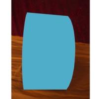 彩色铝卷-125MM腹膜透明蓝