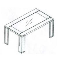 k009 9#玻璃餐桌