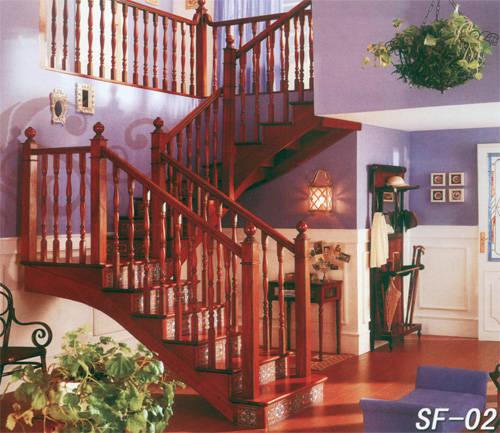 南京楼梯-南京实木楼梯-盛发楼梯17