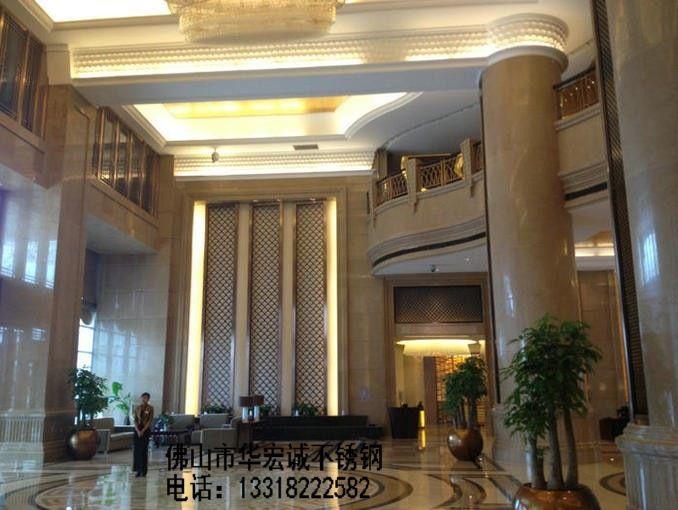 宾馆新中式走道效果图