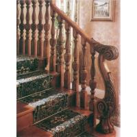 南京实木楼梯-华艺楼梯-立柱扶手2