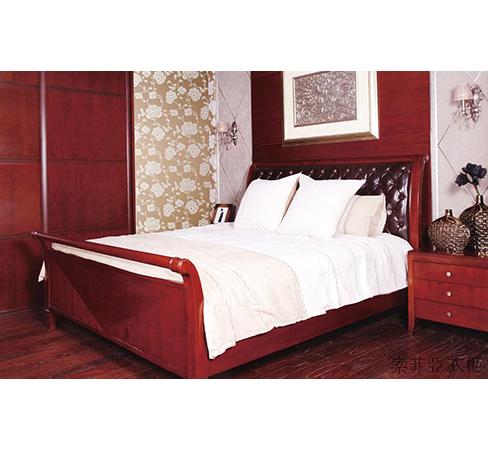 索菲亚衣柜-E款经典系列樱桃红床
