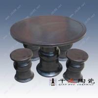乌金釉陶瓷桌凳,景德镇园林桌凳厂家