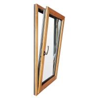 英式新型节能木铝复合内开内倾窗
