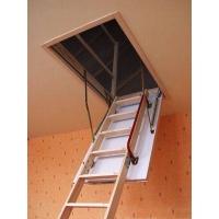 进口实木折叠伸缩楼梯