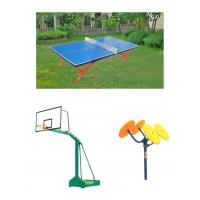 室外乒乓球台、篮球架、健身路径
