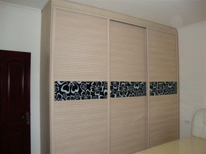 木塑衣柜门 玻璃移门 定做整体衣柜及门