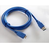 华夏苹果镀镍USB线 A公对迈克USB线 镀镍插头蓝色线