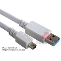A/M TO A/M鍍鎳 白色平板USB3.0高速傳輸線
