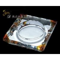 四方茶色水晶烟缸 透明/枫叶/水立方水晶烟灰缸