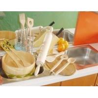 擀面杖,木勺,菜板,木刷,木刷柄,小木锤,食品夹