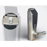 鸿达指纹系列产品-黑贝220指纹密码执手锁