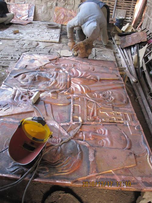 锻铜工艺 - 重庆天上天路雕塑制作厂 - 九正建材