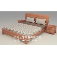红纯实木高档  床