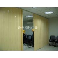 仿木纹塑料折叠门 仿木纹pvc折叠门