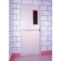 钢质带玻璃推秆锁防火门