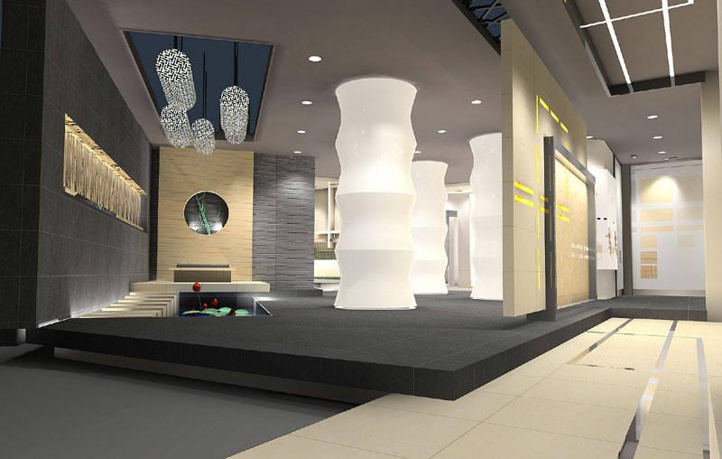 展厅设计图-中盛展厅改造展厅设计图