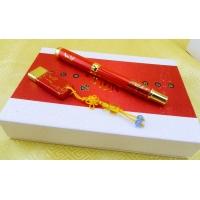 青花瓷笔,中国红瓷笔,陶瓷工艺礼品,红瓷商务套装