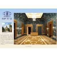 手绘丝绸墙纸 工程墙纸 艺术墙纸 丝绸壁布 无缝壁布