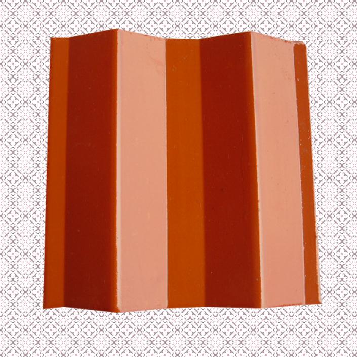 四川夹江名山忠福琉璃瓦150×150mm茶色波形瓦