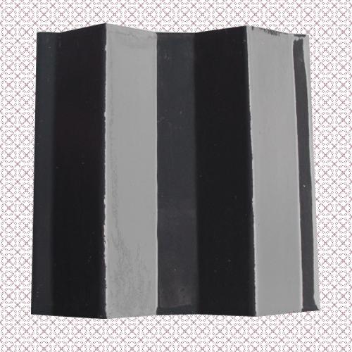 四川夹江名山忠福琉璃瓦150×150mm黑灰波形瓦