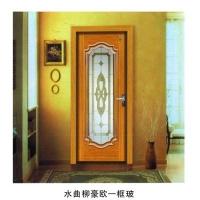 南京实木复合门-南京星星套装门-水曲柳豪欧一框玻