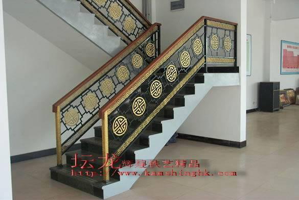 佛山锻打楼梯扶手,广东佛山铁艺楼梯扶手,铁梯,铁艺楼梯扶手图片