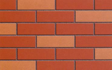 红色外墙砖效果图