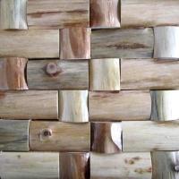 供应天然装饰材料工字形木材马赛克(图)