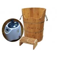 生产衫木香柏木进口橡木浴桶熏蒸沐浴桶负离子蒸气桶足疗木盆