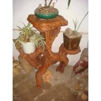 大自然手工艺根雕花架