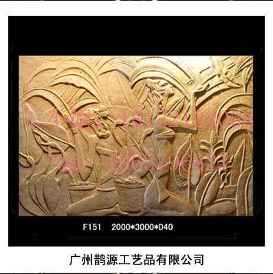 仿砂岩园林浮雕,欧式墙面浮雕壁画