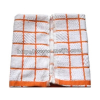 供应馈赠礼品美家康超细纤维毛巾花型双色方格茶巾吸水毛巾百洁.
