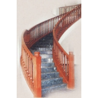 成都欧雅斯艺术楼梯-实木楼梯 7