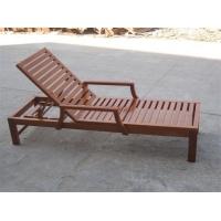 STY-01木制休闲沙滩椅,户外游泳池木躺椅带扶手