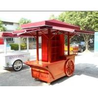 称动售货车 流动售货车 户外木制花车
